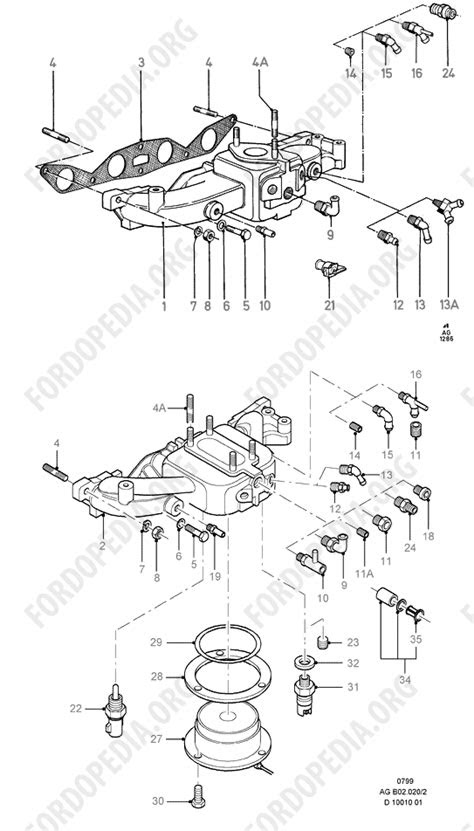 Pinto OHC engines parts list: B2.20 - Inlet Manifold