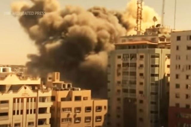 Mísseis destroem prédio da Associated Press e Al-Jazeera na Faixa de Gaza