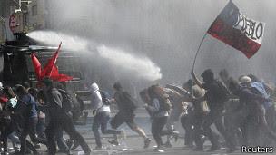 Protesta de estudiantes en Chile