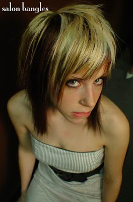 Emo hair cuts -mixture light colours