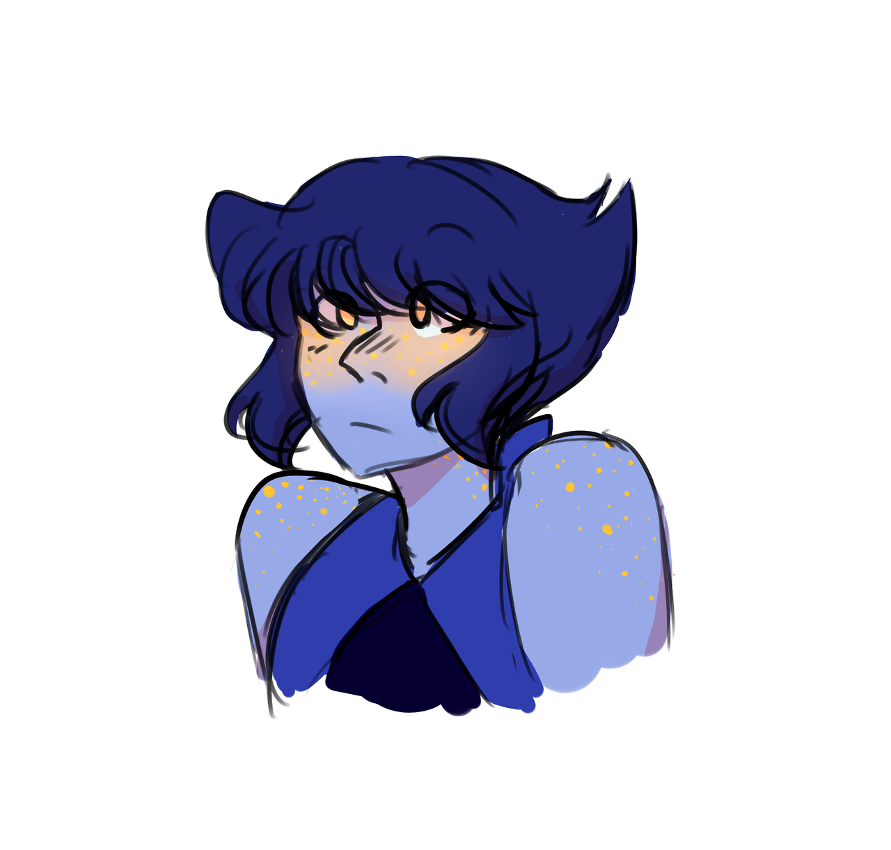 for your consideration: lapis blushing gold/yellow