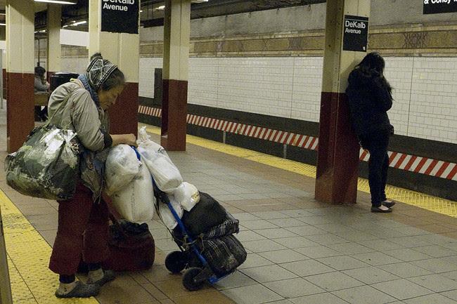 Homeless Woman, NYC