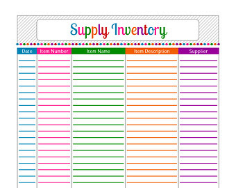 8 Best Images of Store Inventory List Form Printable - Blank ...