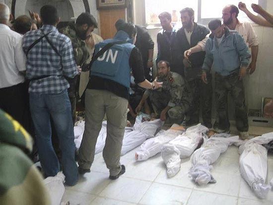 Corpos de crianças mortas em vila da Síria no pior confronto desde o lançamento do plano de paz da ONU