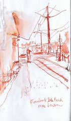 Portland Sketchcrawl - Hopping off the MAX Yellow Line