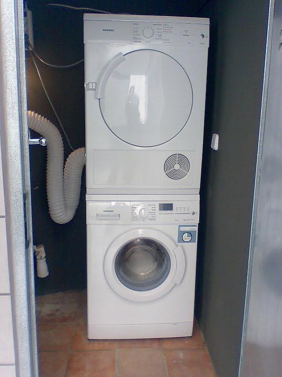 Electrodom sticos de alta tecnolog a lavadora secadora - Secadora encima lavadora ...