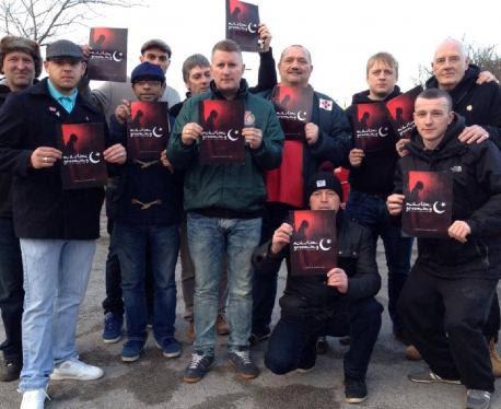 Vile Britain First group visits Lancashire mosque