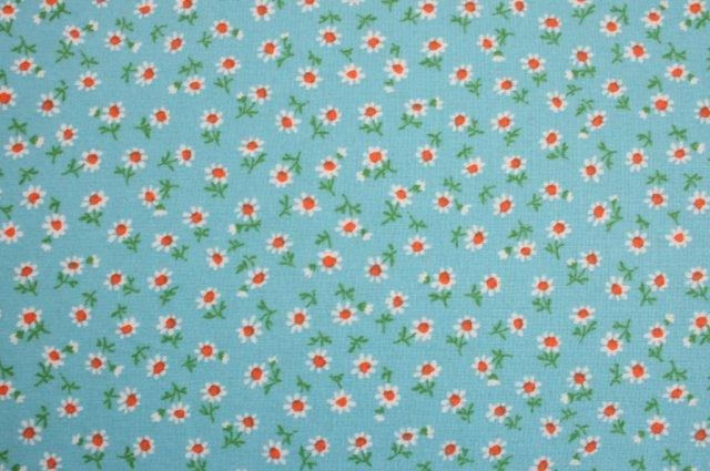 SB07 - Tiny Daisies on Blue Love this fabric!