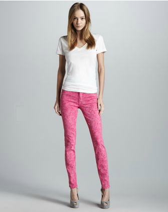 Rich and Skinny Legacy Pink Floral Print Jeans