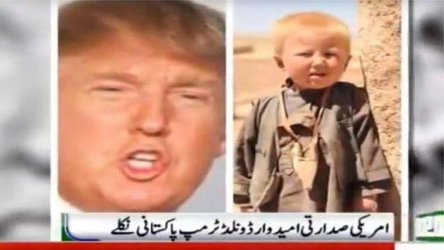 Notícia falsa sobre Trump