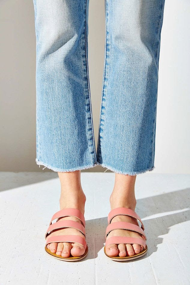 Le Fashion Blog Shoe Crush Pink Sandals Under 25 Frayed Jeans Summer Style Silence + Noise Lucia Strap Sandal photo Le-Fashion-Blog-Shoe-Crush-Pink-Sandals-Under-25-Frayed-Jeans-Summer-Style-Silence-Noise-Lucia-Strap-Sandal.jpg