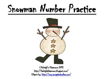 Snowman Number Practice