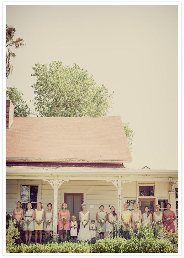 vibrant bridal party