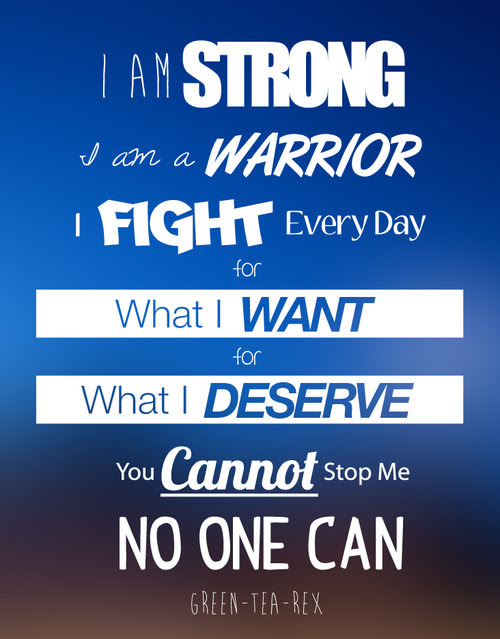 Runner Things 1323 I Am Strong I Am A Warrior I Fight Every Day