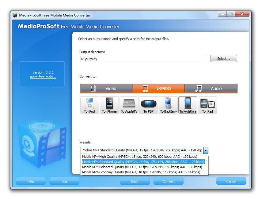 MediaProSoft Free Mobile Media Converter