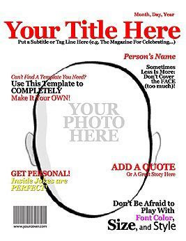 18 Blank Magazine Cover Design Images   Make Your Own