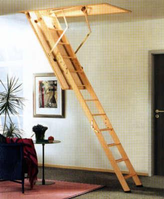 Casas de madera prefabricadas escalerascamoteables mexico - Escalera plegable altillo ...