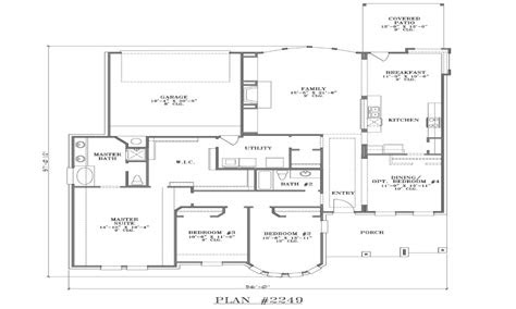 house plans  rear garage simple small house floor