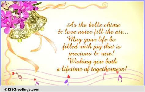 As The Bells Chime  Free Congratulations eCards