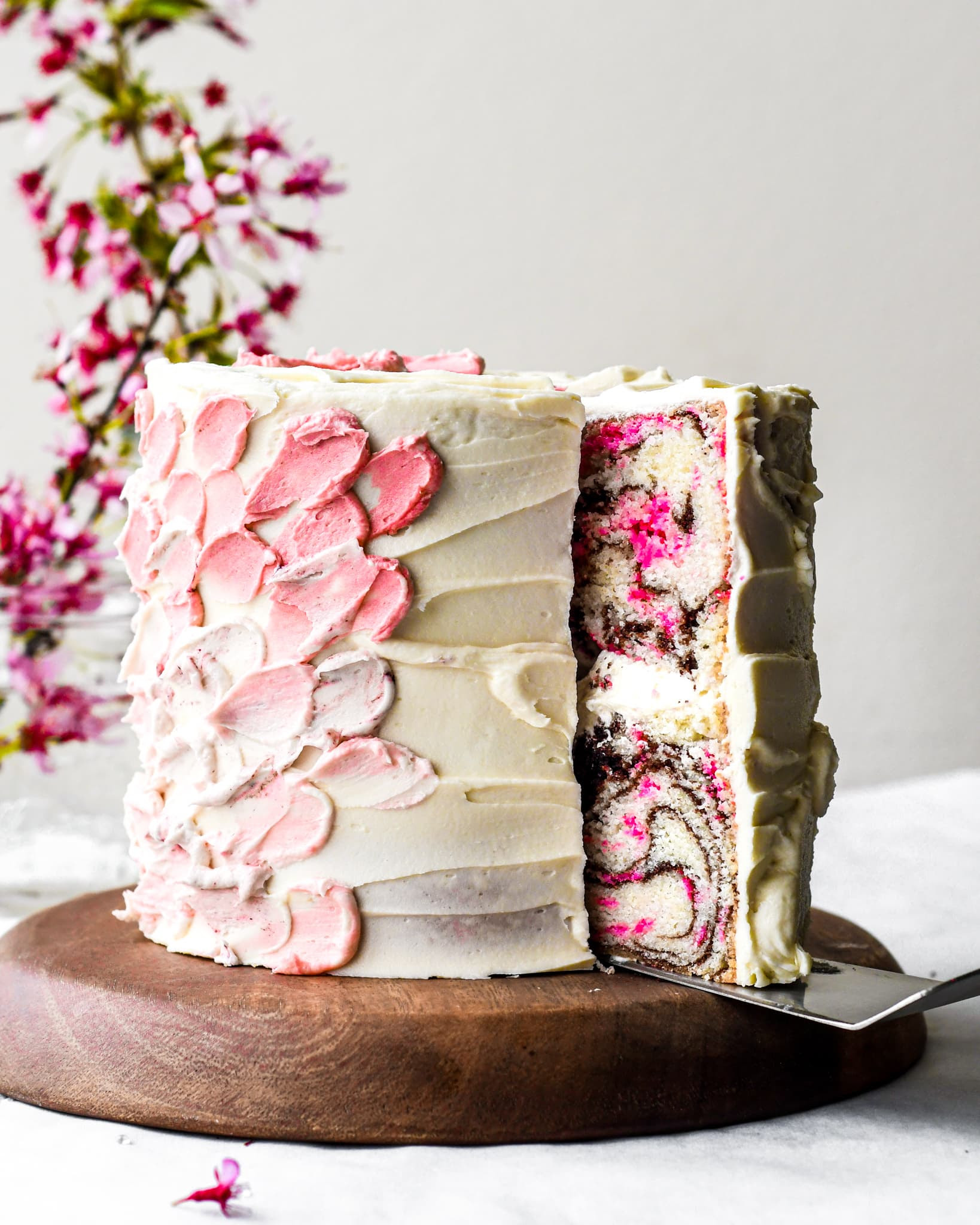 Cherry Blossom Cake Inside And Out Buttermilk