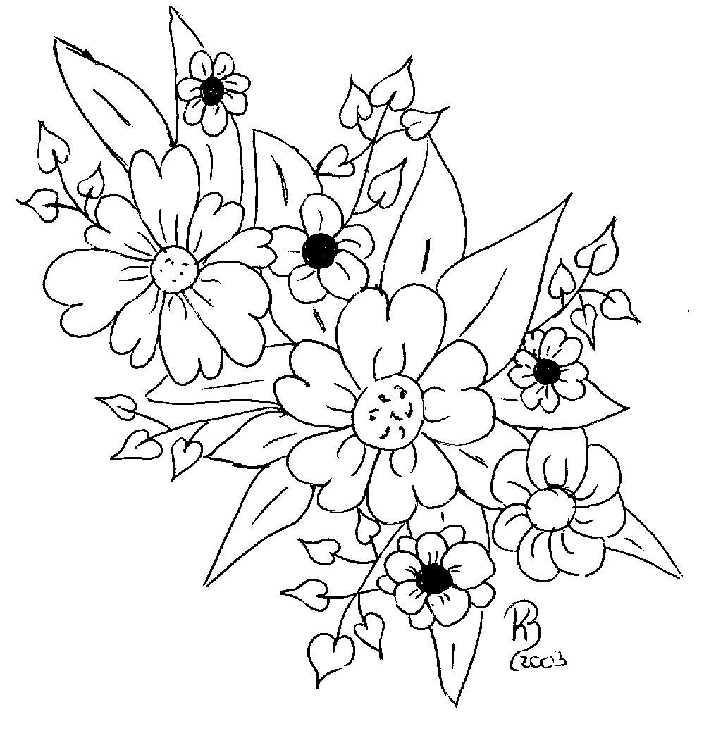 Blumen zum Ausmalen und Ausdrucken - Simple Coloring Blog