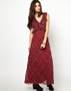 Image 1 of Free People Venetia Maxi Dress in Plaid