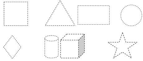 Okulöncesi Geometrik şekiller Etkinliği Eğitim Için