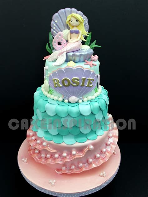The Sensational Cakes: UNDERWATER MERMAID PRINCESS CAKE