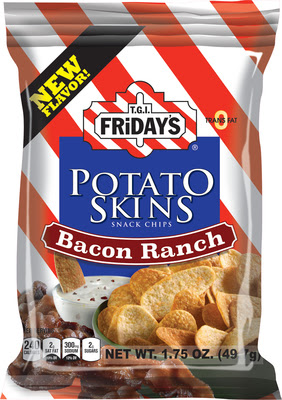 TGI FrIdays Adds Bacon Ranch Flavor to Popular Potato Skins Snack Chip Line