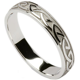 Irish Wedding Ring   Celtic Knotwork Ladies Wedding Band