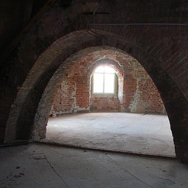 noch unausgebauter Dachboden Neues Schloss Bad Muskau