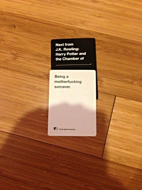 """Harry Potter: Alternate Titles - 25 Times """"Cards against…"""