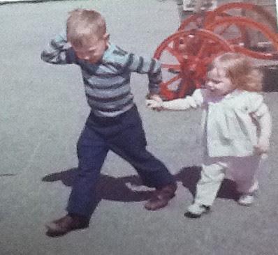 Regina Holliday and her brother Euegene 1974