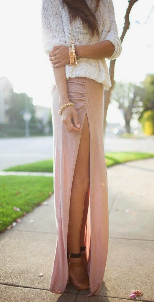 Attractive Side open Full Skirt And Comfy Shirt With Heels