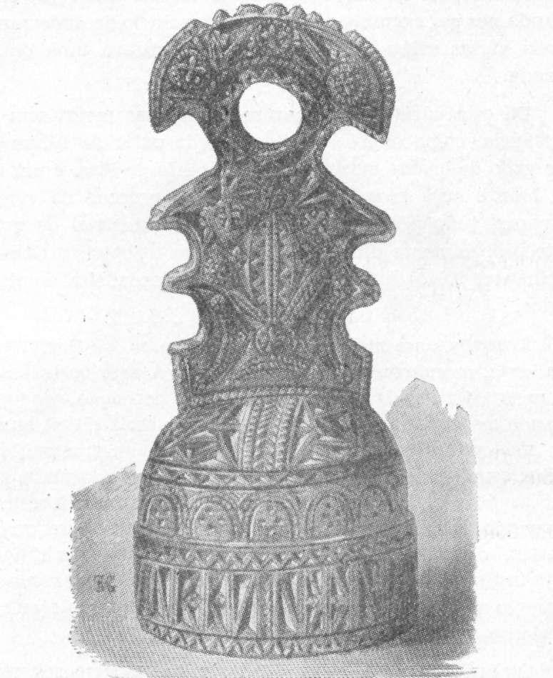 படம் 295 - அரபு சிக்னெட், மரத்தால் ஆனது, ஒரு பேக்கரால்.