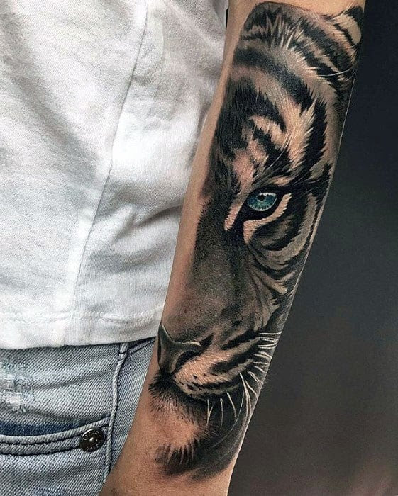 40 Tiger Eyes Tattoo Designs For Men Realistic Animal Ink Ideas