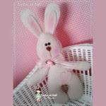 Coniglietto in feltro Cartamodello