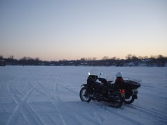 Ural at Lake Johanna Sunset