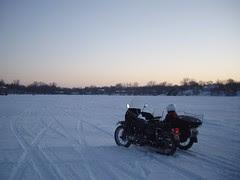 Ural at Lake Johanna Sunset