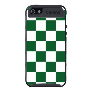 Checkered Green and White Case For iPhone 5