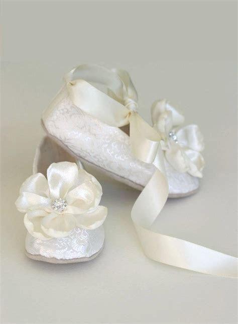 Ivory Brocade Toddler Flower Girl Shoe   Flower Girl