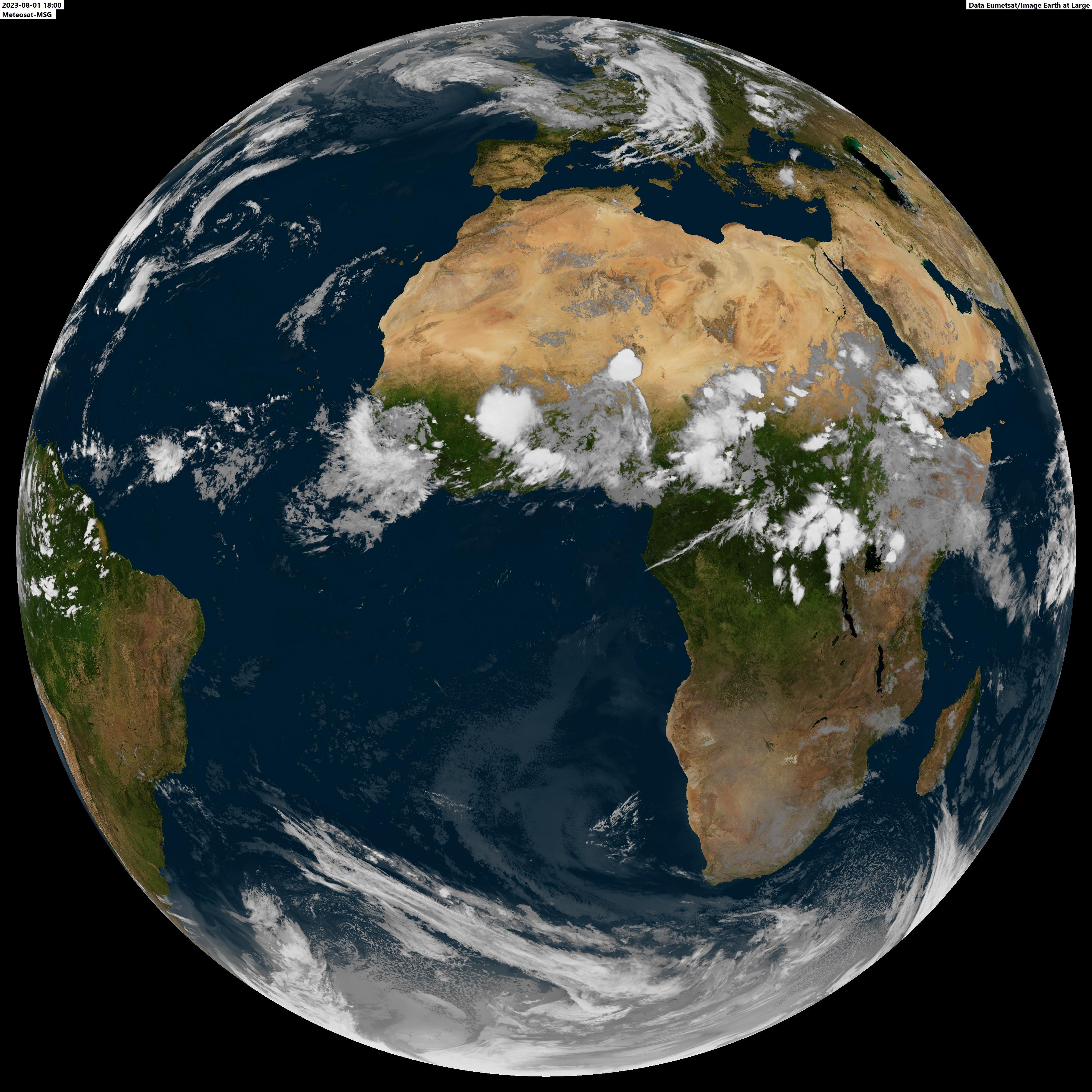 Imagen Europa-Africa Meteosat-8