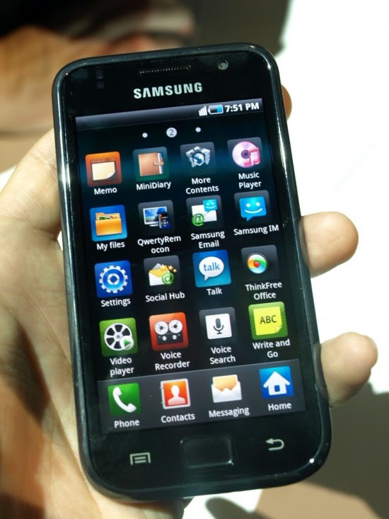 Samsung Galaxy S 550x733 Top 10 Touchscreen Phones for 2012
