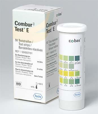 Combur 3 Test E, 50 Stück Harntest Glucose + Eiweiß + Blut ...