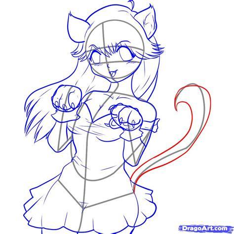 draw neko step  step anime females anime draw