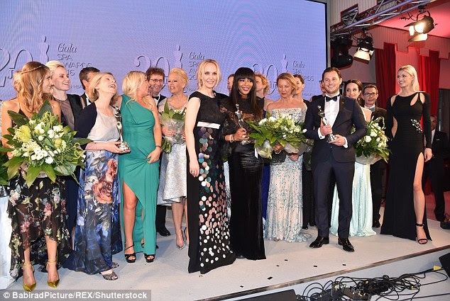 What a night: The awards was a lavish affair, with beauty industry experts honoured