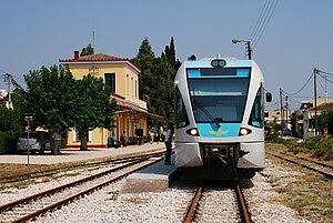 GREECE: Stadler GTW 2/6 DMU no 4508 at Argos s...