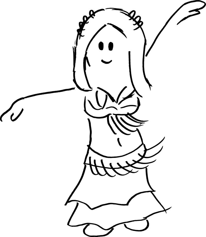 Bailarina De Danza Oriental Sgcg