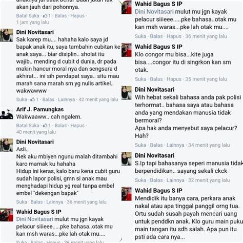 komentar pedas oknum polisi mengenai oknum guru cubit