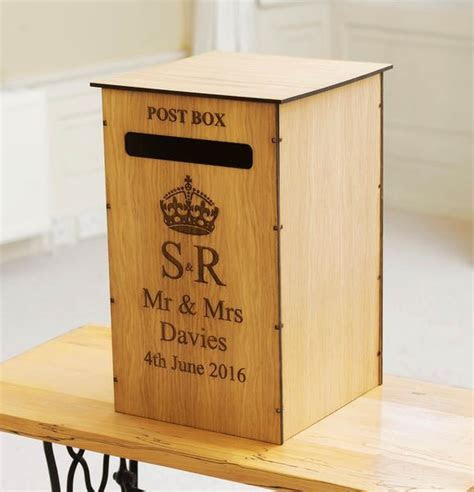 Personalised wedding post box for gift cards ? Stag Design